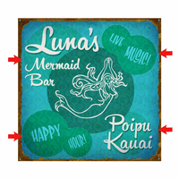 G Mermaid Bar Personalized Signs