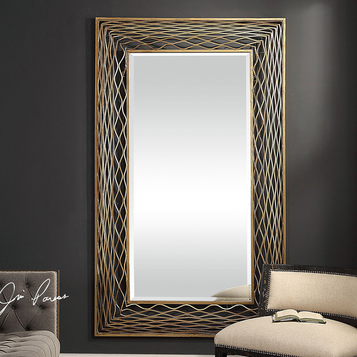 Coastal Mirrors Galtero Gold Wall Mirror