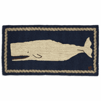 Gentle Giant Whale Hooked Wool Accent Rug