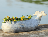 Gentle Giant Whale Planter