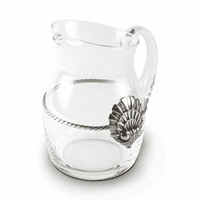 Glass Pitcher Coquille Medallion - Large