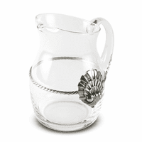 Glass Pitcher Coquille Medallion - Small