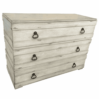 Glen Abbey 3 Drawer Textured White Chest