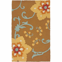 Gold Flower Indoor/Outdoor Rug Collection
