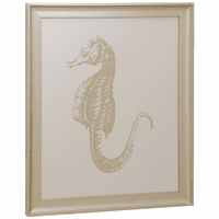 Gold Leaf Seahorse Framed Canvas
