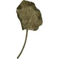 Golden Iron Leaf Sculpture