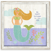 Golden Mermaid Framed Art