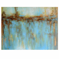 Golden Reflection II Abstract Wall Art
