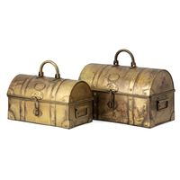 Golden Treasure Chests - Set of 2