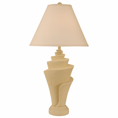 Goldenrod Conch Shell Pot Table Lamp