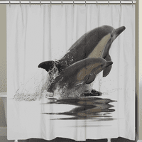 Graceful Dolphins Shower Curtain
