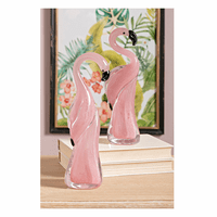 Graceful Pink Flamingo Statues - Set of 2