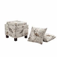 Gramercy Ottoman with Pillows - Shore Side