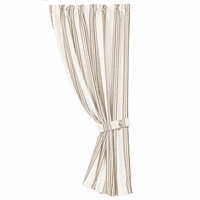 Gramercy Striped Curtain with Tieback