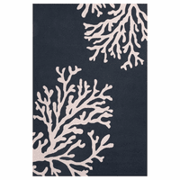 Grant Bough Out Majolica Blue Rug - 2 x 3 - OVERSTOCK