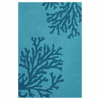 Grant Bough Out Peacock Blue Rug - 5 x 8