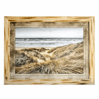 Grassy Sand Beach Framed Art