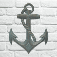 Gray Anchor Wall Décor
