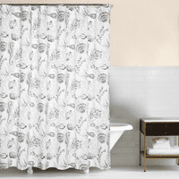 Gray Bay Shower Curtain