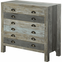 Gray & Blue Reclaimed Wood Chest