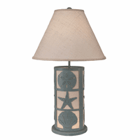 Gray-Blue Shells Table Lamp