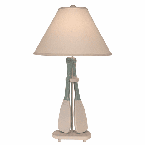 Gray Boat Oar Table Lamp