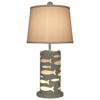Gray Cutout School of Fish Accent Lamp with Nightlight