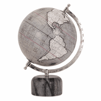 Gray Globe on Marble Base
