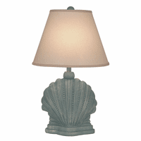 Gray Mini Shell Table Lamp