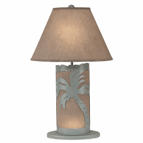 Gray Palm Tree Table Lamp with Nightlight