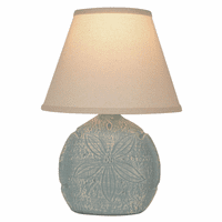 Gray Sand Dollar Sea Accent Lamp