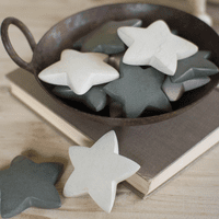 Gray Star Stones - Set of 6