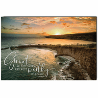 Great is The Lord Wrapped Canvas Art
