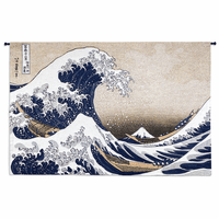 Great Wave At Kanagawa Large Wall Tapestry