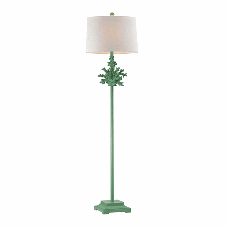 Green Coral Floor Lamp