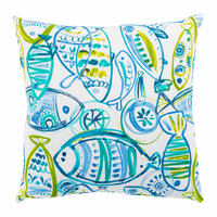 Green Fish Indoor/Outdoor Pillow - 20 x 20