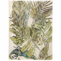 Green Fronds Canvas Wall Art