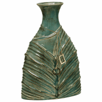 Green Leaf Ceramic Vase - Small