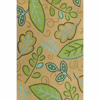 Green Leaves on Sand Indoor/Outdoor Rug Collection
