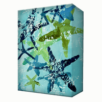 Green Sea Stars Aluminum Wall Art
