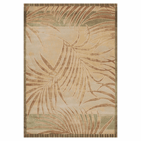 Green Stripe Palm Rug Collection