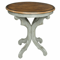 Gresham Textured Gray and Oak Veneer Accent Table