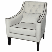 Halstead Button Tufted Linen Lounge Chair
