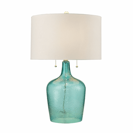 Hammered Glass Seabreeze Table Lamp
