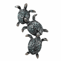 Hammered Metal Turtles Wall Art