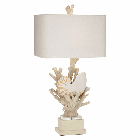 Hanauma Bay Natural Table Lamp
