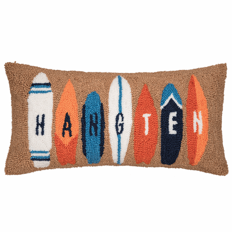 Hang Ten Hooked Pillow