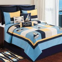 Channel Harbor Twin Quilt - CLEARANCE