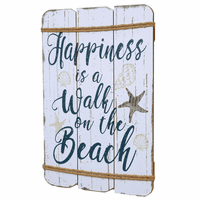 Happy Beach Wood Wall Art - OUT OF STOCK UNTIL 11/27/2020