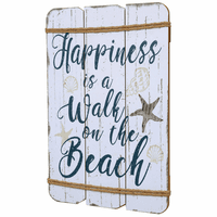 Happy Beach Wood Wall Art